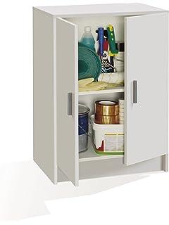 Habitdesign - Armario multiuso bajo 2 puertas, 80 x 59 x 37 cm, color