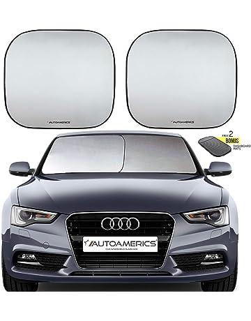 Autoamerics Windshield Sun Shade 2-Piece Foldable Car Front Window Sunshade  for Most Sedans SUV 00b3134046d