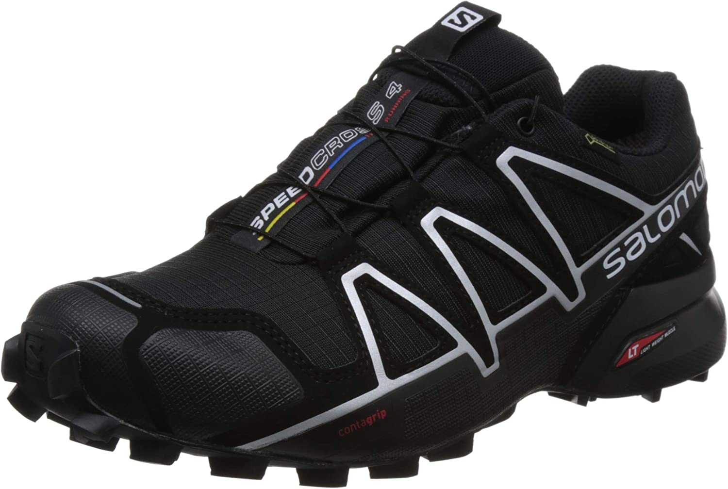 Salomon Speedcross 4 GTX, Zapatillas de Trail Running para Hombre, Negro (Black/Black/Silver Metallic-X), 40 EU: Amazon.es: Zapatos y complementos