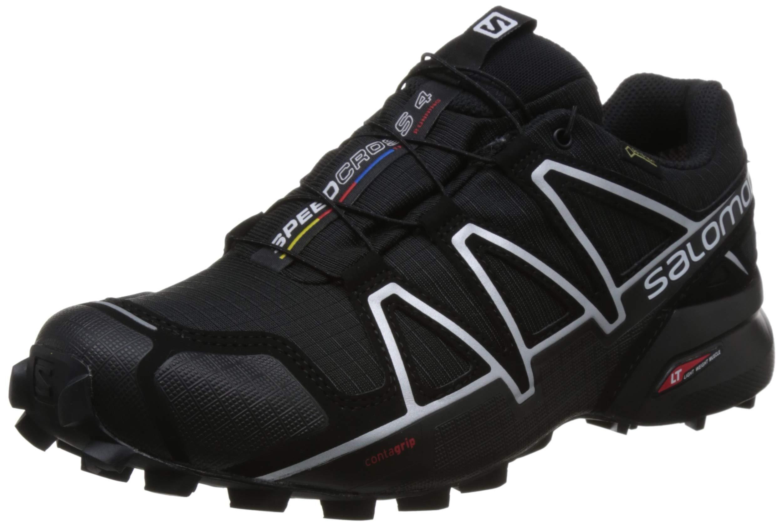 Salomon Men's Speedcross 4 GTX Running Trail Shoes Black/Black/Silver Metallic-X 11.5