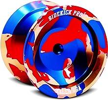 Sidekick Yoyo Pro Splashes Professional Aluminum UNresponsive YoYo (Gold / Red / Blue)