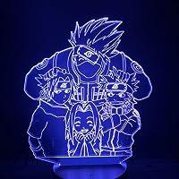 Licht De illusie 3D Naruto Uzumaki Naruto Hatake Kakashi Haruno Kersenbloesem Uchiha Sasuke 3D Licht Anime Naruto Figuur…