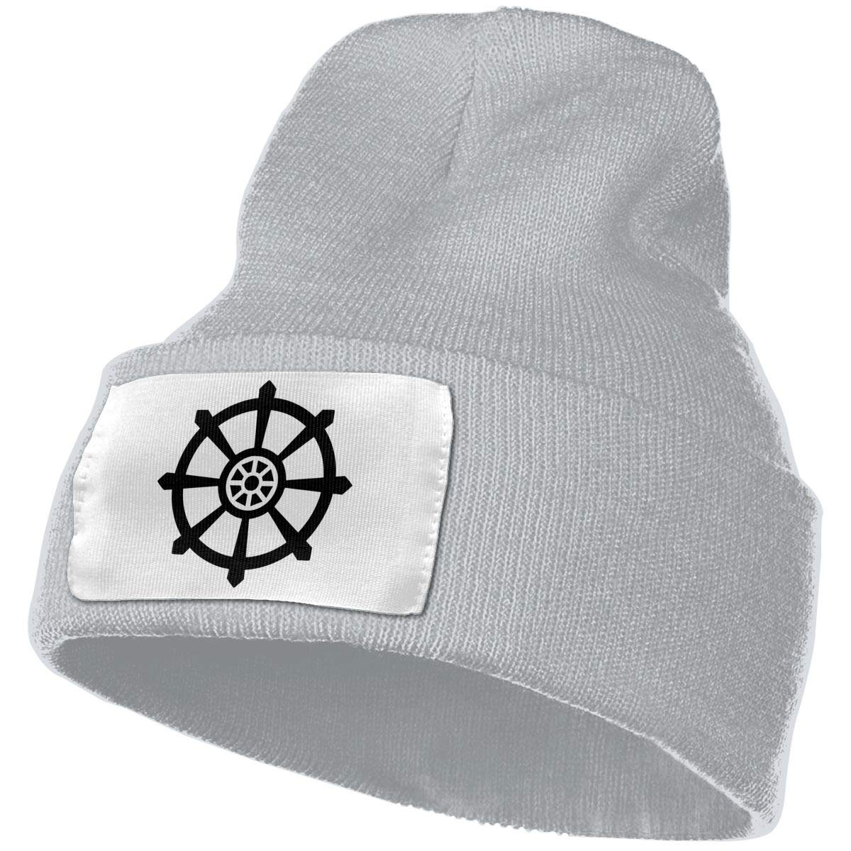 Dharmachakra Men/&Women Warm Winter Knit Plain Beanie Hat Skull Cap Acrylic Knit Cuff Hat