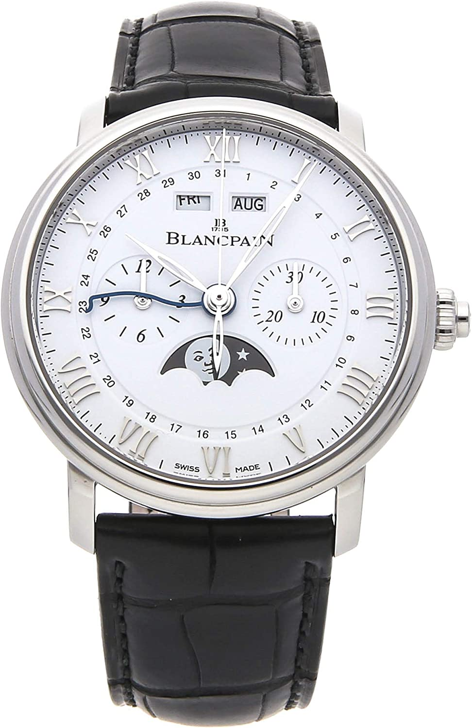 Blancpain Villeret Mechanical (Automatic) White Dial Mens Watch 6685-1127-55B (Certified Pre-Owned)
