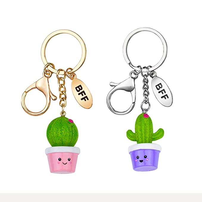 Skywisewin Best Friend Cool Cute Cactus Unique Keychains Car Circle Key  Rings Bag Hanging Buckle for 18159d29b6bcc