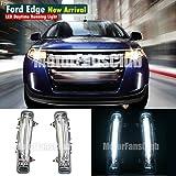 MotorFansClub LED Daytime Running Light for Ford Edge SUV Fog Lamp DRL 2011-2014 (