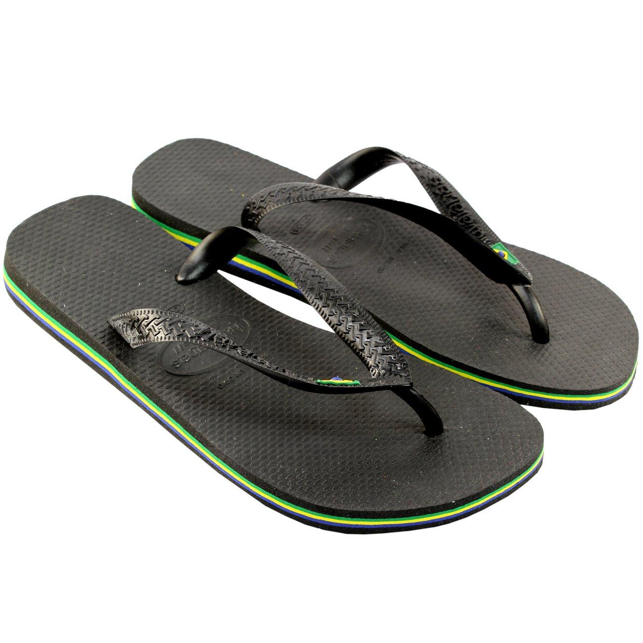 Herren Sandalen Havaianas Brasil Flip Flop Sandals  35/36 EU|Schwarz