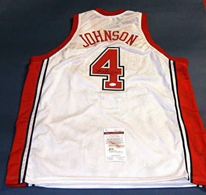new concept 9e6eb eec50 LARRY JOHNSON AUTOGRAPHED UNLV RUNNIN REBELS W JERSEY JSA at ...