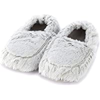 Warmies Women's/Ladies Microwavable Slippers, 90 Seconds to Warm Up in One Free Size of AUS: 5-9, Grey Marshmallow