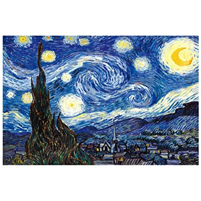 Puzzles for Adults 1000 Piece Large Puzzle, Van Gogh's Famous Paintings Starry Sky Jigsaw Puzzle: Toys & Games