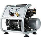 Metabo HPT Air Compressor, Ultra-Quiet 59 dB, Portable, Oil-Free Pump, 1-Gallon Tank Capacity, Steel Roll Cage w/ Rubber Grip