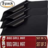 Twisted Chef BBQ Grill Mat – Set of 3 Non Stick Grill Mats – Essential Grilling Accessories and BBQ Tools.