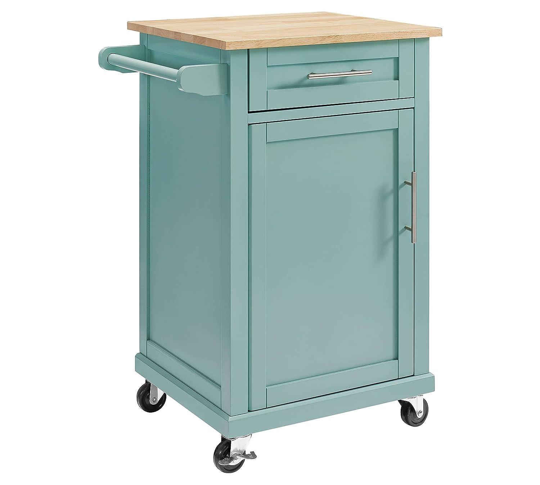 Amazon.com: Threshold Carey Small Kitchen Cart (Black): Kitchen & Dining