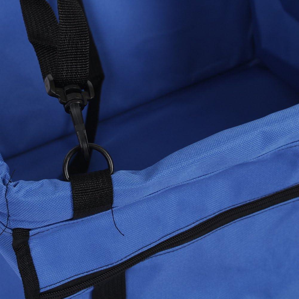 pliable en PVC /étanche pour animal domestique de si/ège de voiture de transport Sac /à main Bretelles r/églables avec double Fermoir de s/écurit/é pour chien animal domestique Animal Sac dassise Bleu