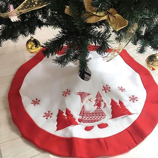1Buy 90 cm/35.43inch Faldas de Peluche árbol de Navidad Redondo ...