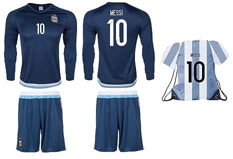 Camiseta de fútbol de la Argentina Messi #10 y pantalones ...