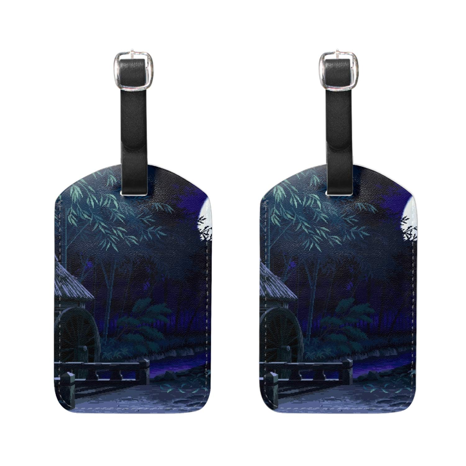 f247c51bb054 Amazon.com | Set of 2 Luggage Tags:Crow Death Grim Reapers - Bag ...