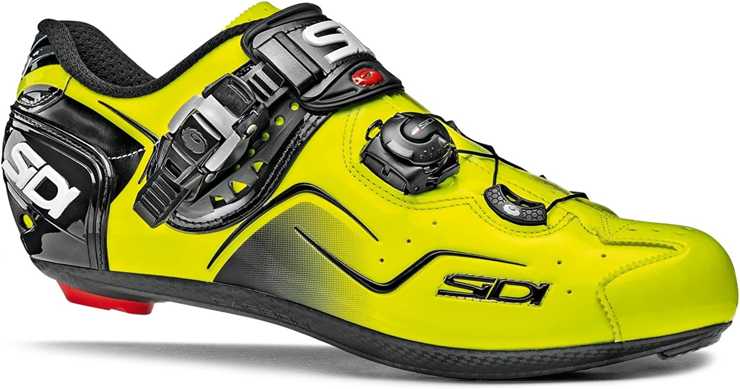White Orange Fluo Sidi KAOS Road Cycling Shoes