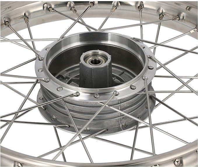 Mza Speichenrad 1 6 X 16 Edelstahlfelge Edelstahlspeichen Simson S50 S51 Kr51 Schwalbe Sr4 Auto