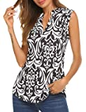 Women's Chiffon Button Down V Neck Strappy Cami Tank Tops Loose Casual Sleeveless Shirts Blouses