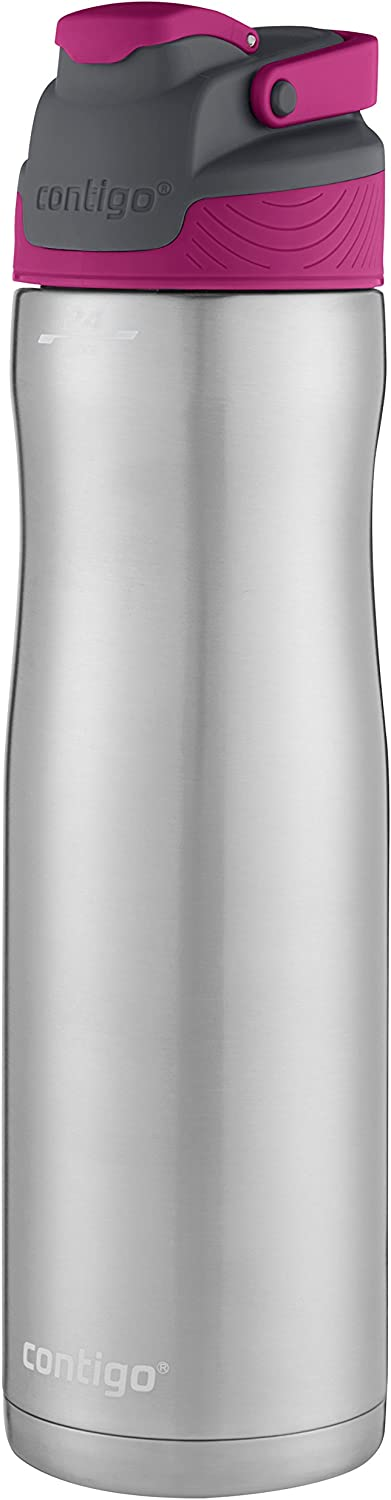 Contigo AUTOSEAL Chill Stainless Steel Water Bottle, 24 oz., Very Berry