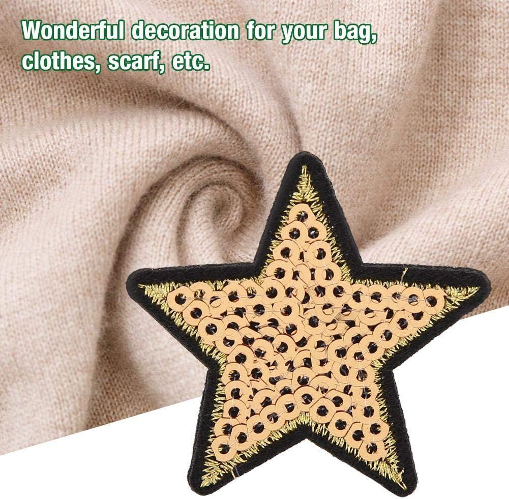 Parche de estrella 12 piezas DIY con lentejuelas patr/ón de estrella bordado pegatina ropa parche ropa vestido planta sombrero Jeans coser flores apliques DIY accesorio