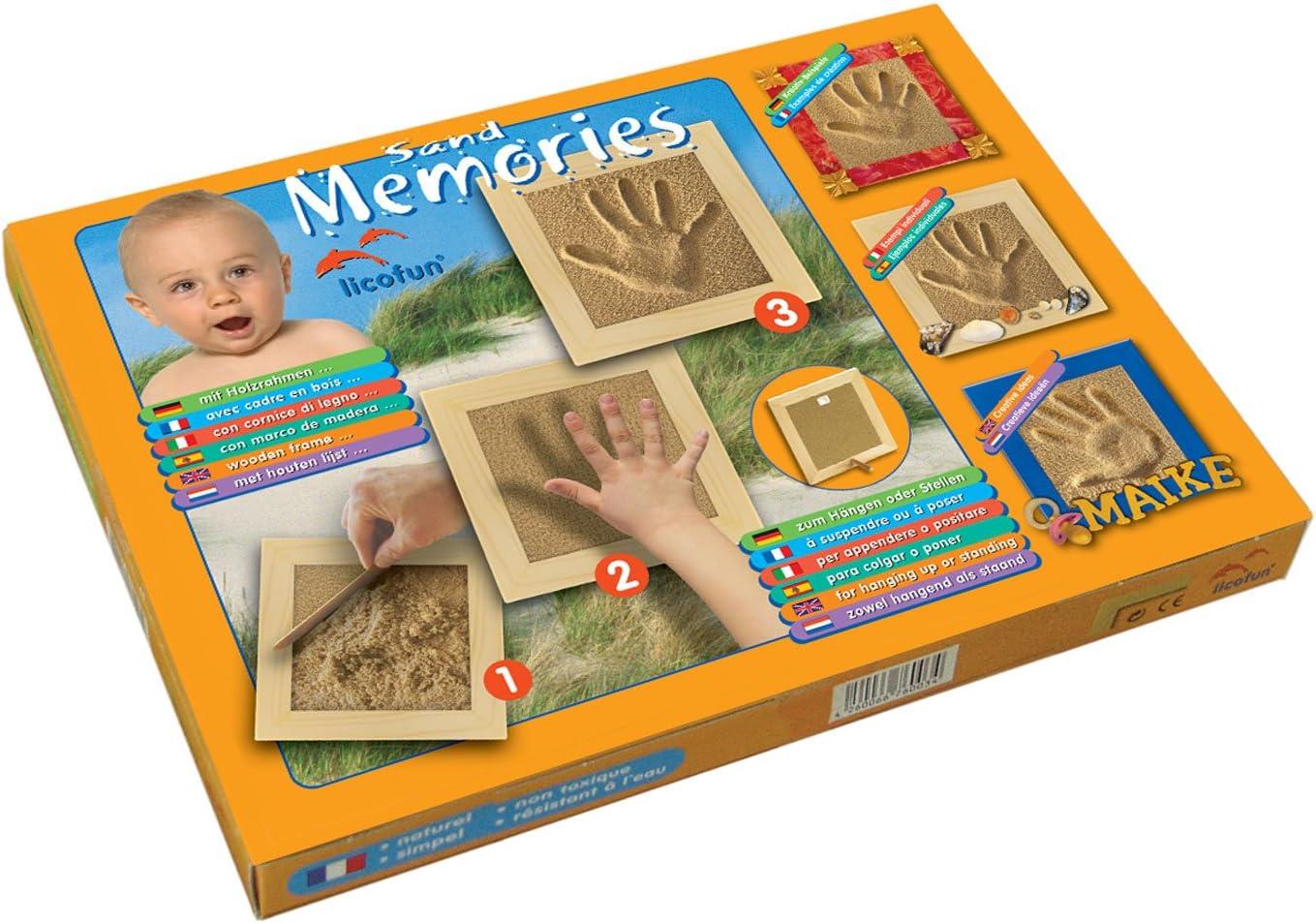 Licofun Erinnerung aus Sand Fu/ß oder Handabdruck in Kartonage
