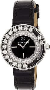 ساعة شورافسكي للنساء بمينا لونه اسود وبسوار ستانلس ستيل - 1160305