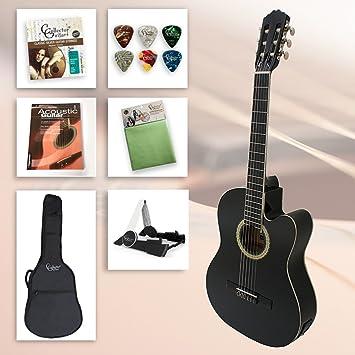 Set de guitarra de principiantes Black Kiss - 4/4 Guitarra Negro ...
