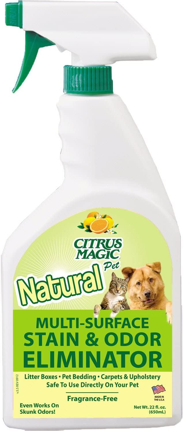 Citrus Magic Pet Muli-Surface Stain and Odor Eliminator, 22-Ounce