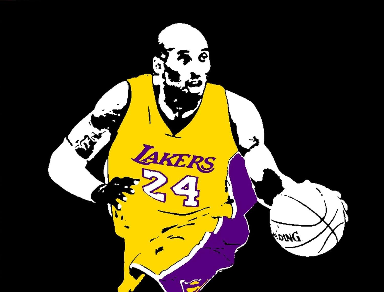 Kobe Bryant Black Mamba Lakers Baloncesto de moderno pintado a ...