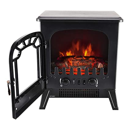 Awe Inspiring Garden Mile Portable 1 8Kw Black Log Burner Electric Fire Stove Free Standing Realistic Flame Effect Insert Fire Room Heater Wood Burner 2 Heat Beutiful Home Inspiration Ommitmahrainfo