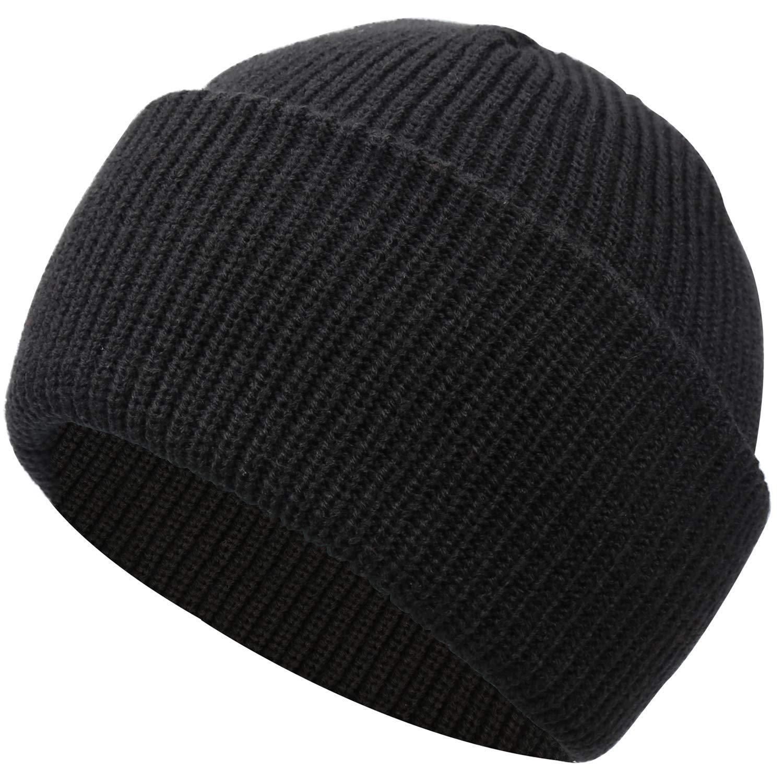Muuttaa ビーニーハット 冬用帽子 男女兼用 ケーブルニット 暖かいキャップ スカルハット 厚手のカーリングダブル付き カジュアルで本格的なヘッドウェア フリースタイル   B07G5X29VF