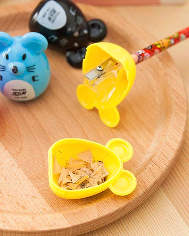 regalo di natale colori pu/ò variare Xiaoyu 15pcs temperamatite creativo cartone animato plastica temperamatite per la scuola carota ufficio