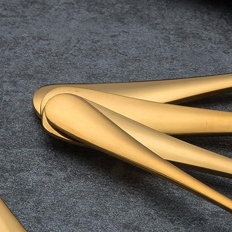 BERGLANDER Set de Cubiertos de Acero Inoxidable 30 Piezas con Chapado en Oro de Titanio, Set de Cubiertos de Color Dorado, Cubiertos, Servicio de cubertería ...