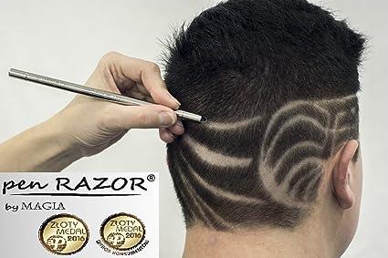Corte de pelo fade con estrellas