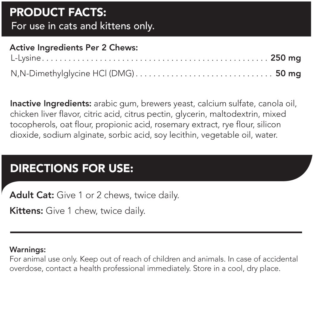 VetriScience Laboratories - Vetri Lysine Plus, 120 Bite-Sized Chews by VetriScience Laboratories