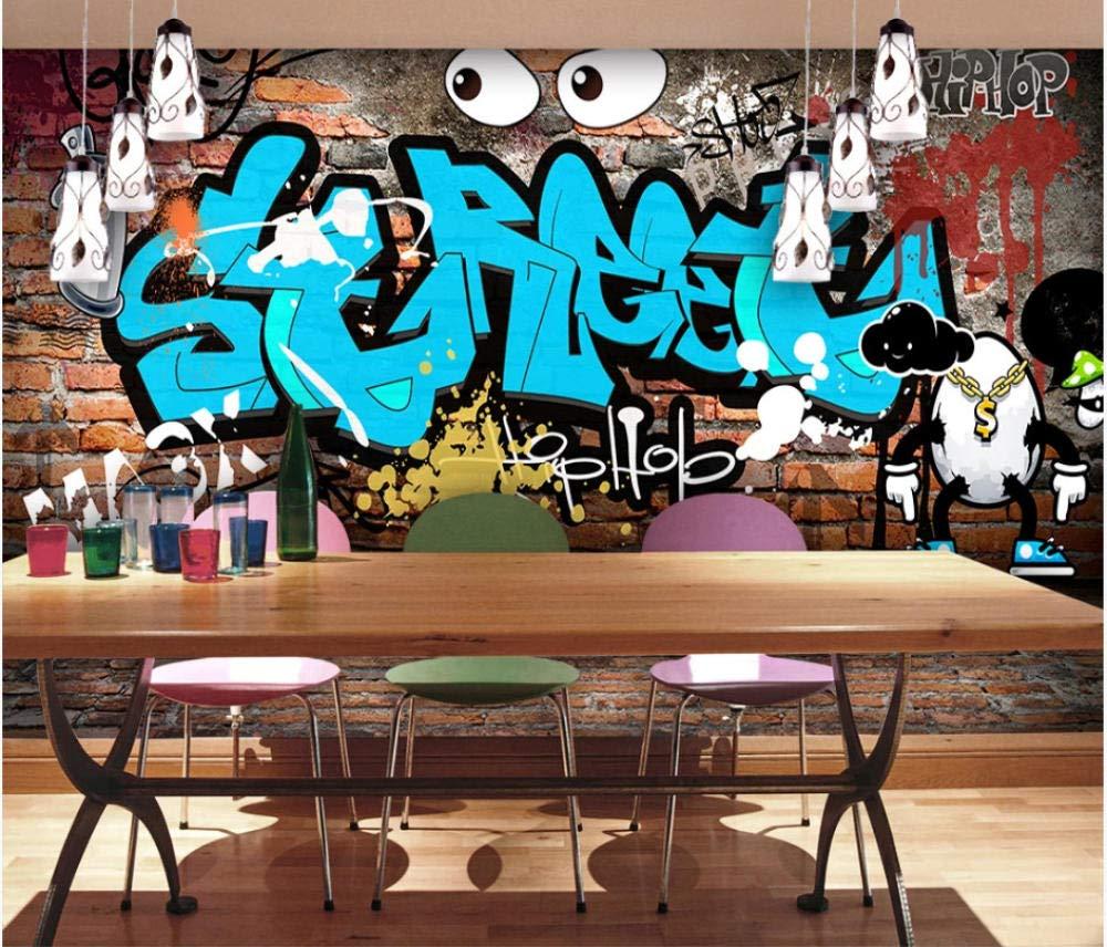 W Papier Peint Muraux Deco Mur De Briques Anglaises Graffiti Colle Inclu For Mur Maison Magasin 366x H 254cm Silk Cloth Include Powdered Glue Papiers Peints Peintures Outils Et Traitement Des Murs
