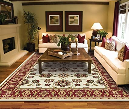 Traditional Ivory Area Rugs for Living Room Area Rugs 5x7 Under 50