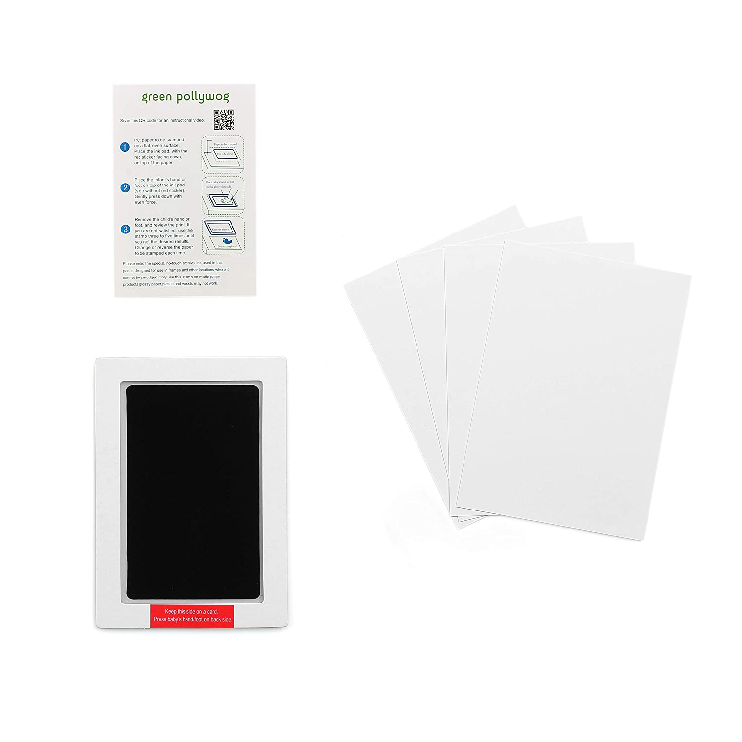 Clean Touch Inkless Ink Pad Extra-Large for Baby, Newborn, Infant, Toddler, Handprints, Footprints, Non-Toxic, Baby-Safe Stamp Pad, Pet Dog Pawprints