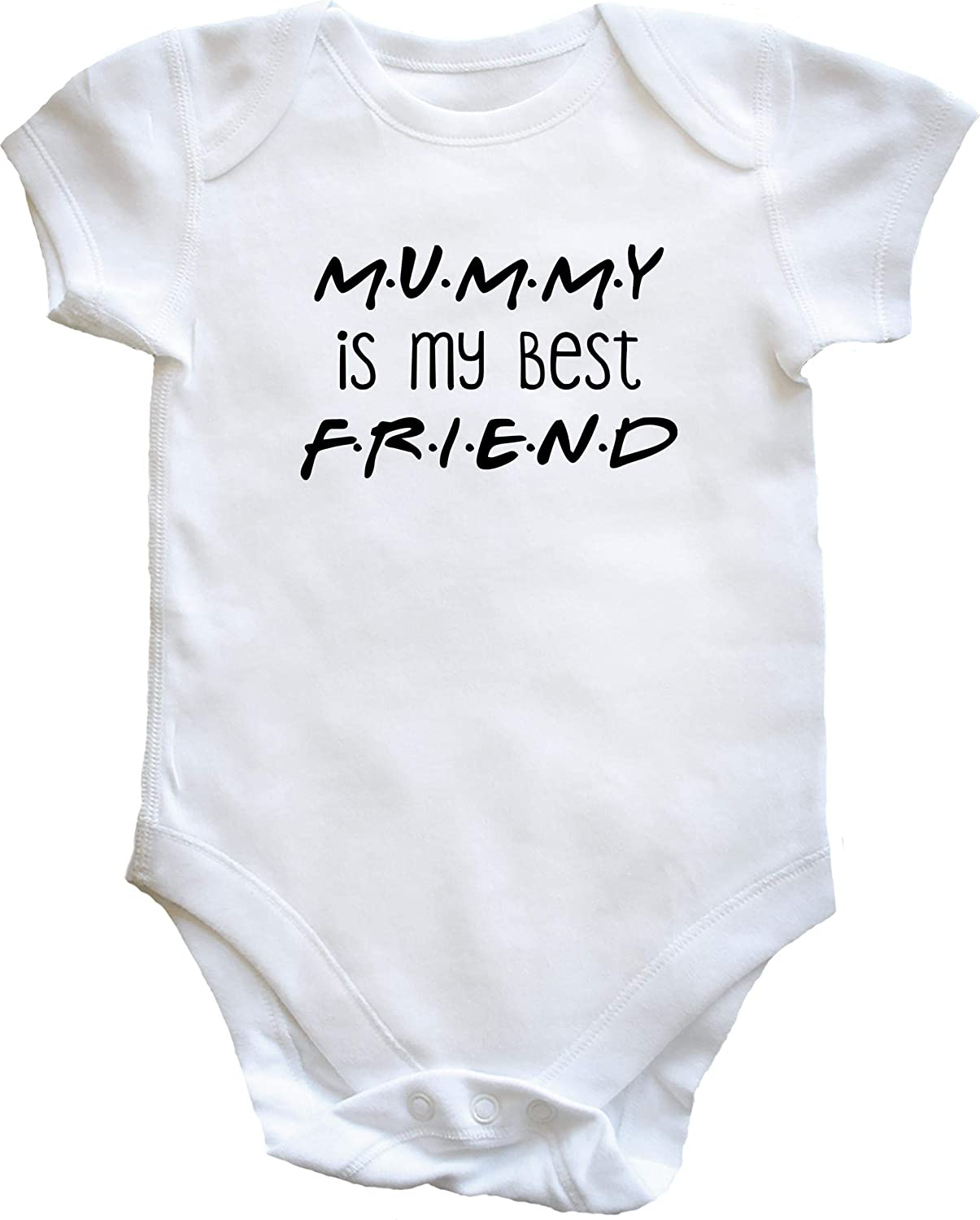 Baby Girls Short Sleeve T Shirt with Me and My Mummy are Best Friends