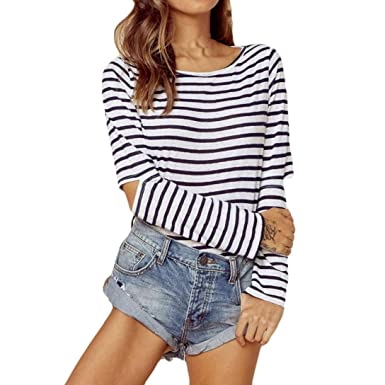 3452dfd781cd19 VEMOW Shirts for Women Workout Juniors Blouses Loose Casual for Work  Vintage Cute Teen Girls Sexy