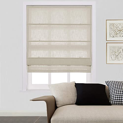 ChadMade Customize Natural Linen Roman Shade