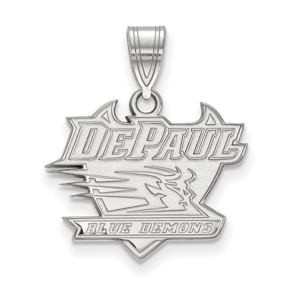 19mm x 22mm Jewel Tie 925 Sterling Silver DePaul University Medium Pendant