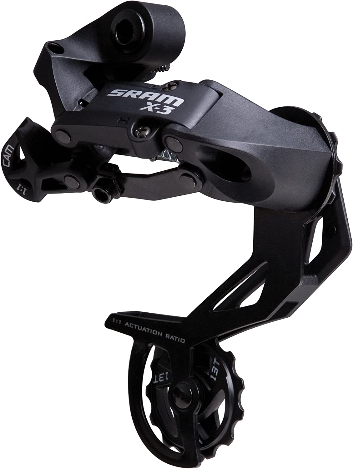 LONG CAGE BLACK 7-8SPD SRAM X3 REAR DERAILLEUR