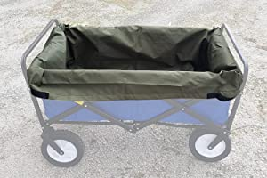 UpBloom Wagon Liner. Heavy Duty Water Resistant Repellent Fabric with Easy Unloading Handles. Fits Most Utility Carts / Collapsible Wagons / Wheelbarrow Styles
