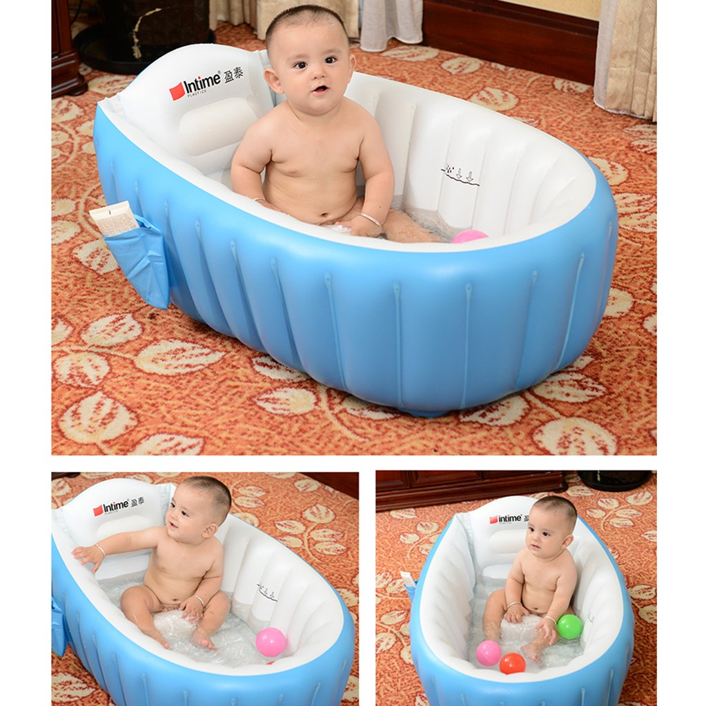 Amazon.com : Signstek Baby Infant Travel Inflatable Non Slip Bathing ...