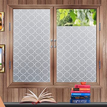Privacy Window Film Frosted Window Stickers Self Adhesive Static