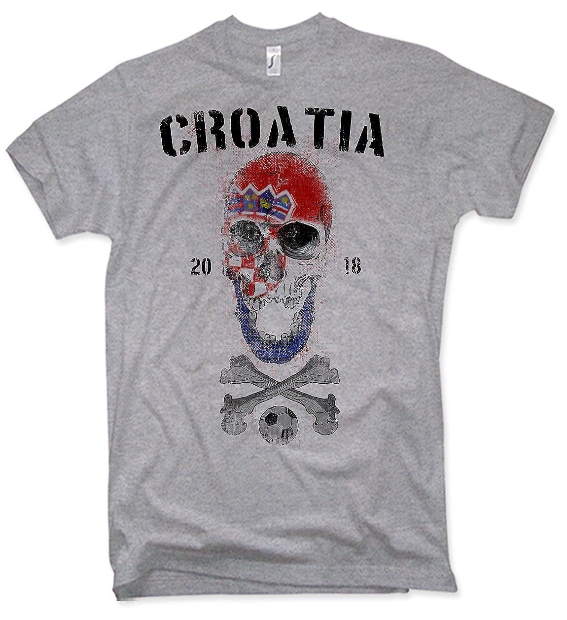 NG articlezz Camiseta de los Hombres Croacia Calavera Copa del Mundo de Fútbol 2018 Croacia s-5xl: Amazon.es: Ropa y accesorios