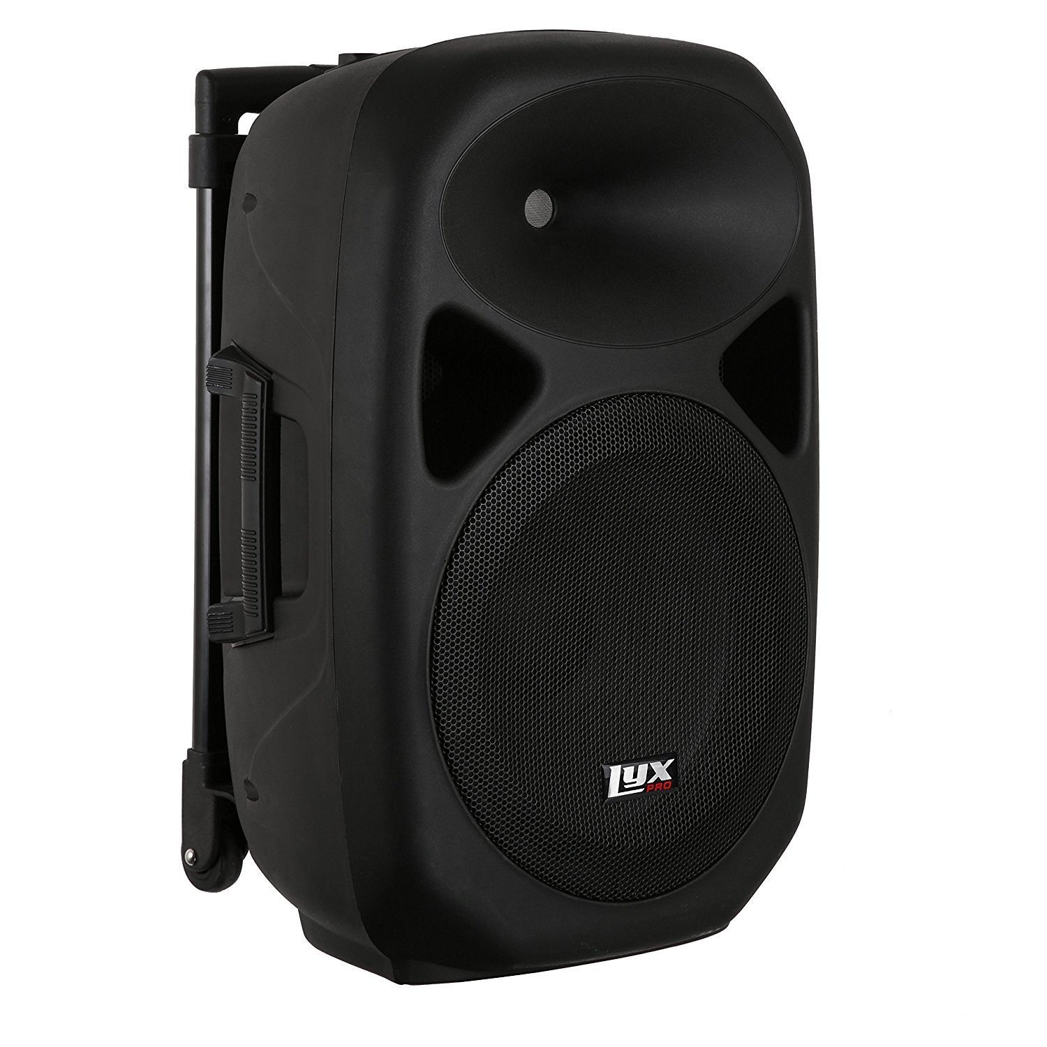 LyxPro SPA-12BAT Battery Powered Active Speaker Portable PA System Built In EQ & Rechargeable Battery, Bluetooth, MP3, USB, SD, 1/4'', 3.5mm